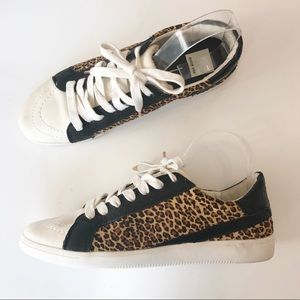 Dolce Vita Nino Leopard Calf Hair Sneakers